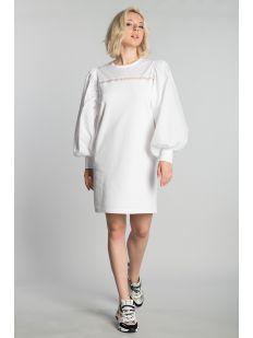 FABRIC MIX SWEAT DRESS