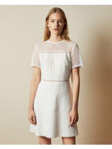Short Sleeve Lace Mini Dress