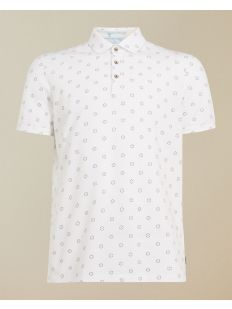SS Textured Polo with Geo Print