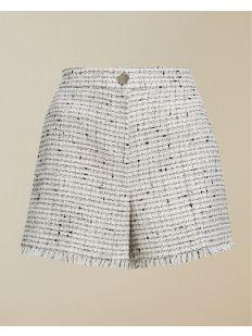 Fringed Hem Tailored Short