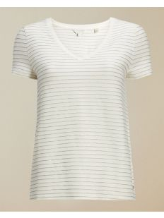 V neck relaxed striped tee
