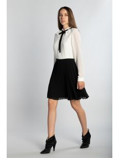 PLEATED MINI DRESS WITH TIE DETAIL