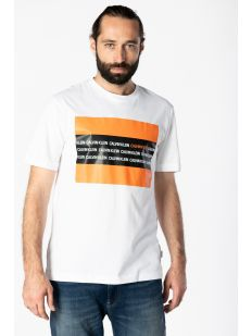 CONTRAST TEXT BOX CHEST T-SHIR