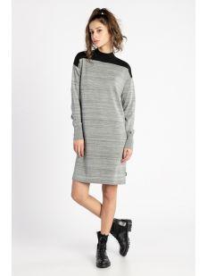 LS MOCK NK LUREX DRESS