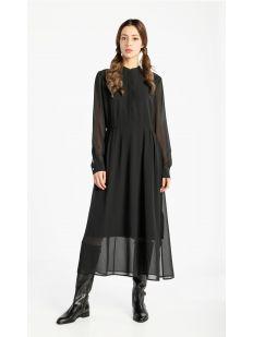 LS BUTTON UP MAXI DRESS