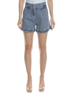 FLARE BUTTON UP SHORT SS21-4