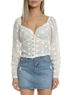 EMBROIDERED CABARET TOP 3440