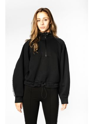 Double Jersey Cropped Sweat
