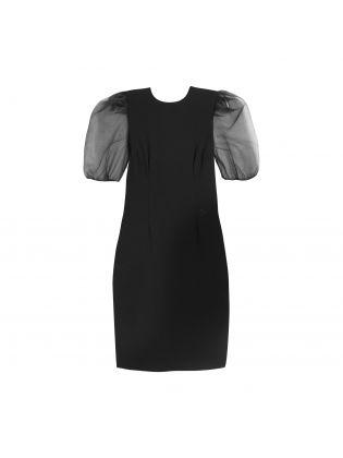 Organza Sleeve Punto Dress