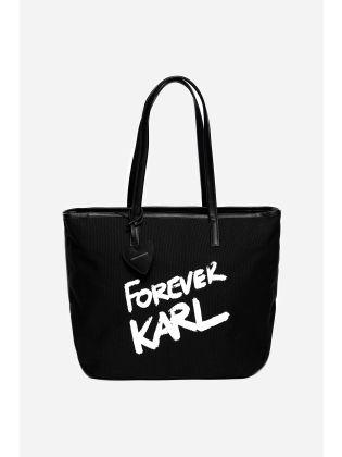 Karl Forever Canvas Shopper
