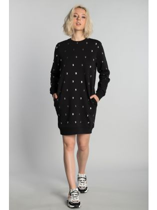 A/OVER IKONIK KARL SWEAT DRESS