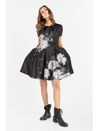 WMD-LUICY-Clove Printed Skater Dress