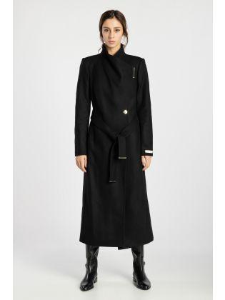WMO-ROSELL-Long Length Wool Wrap Coat
