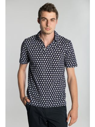 SS SMALL FLORAL PRINTED POLO