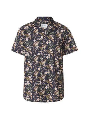 Latif Flower Print SS Shirt