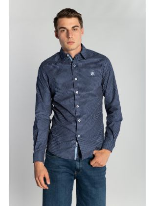 JACQUARD FITTED SHIRT M3513