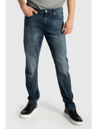 SLIM TAPERED BLUE BLACK DENIM