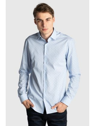 PRINTED EASY CARE SLIM SHIRT