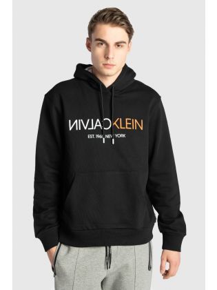 TEXT REVERSE FRONT LOGO HOODIE