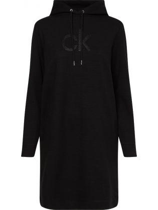 HOODED CK DIAMANTE DRESS