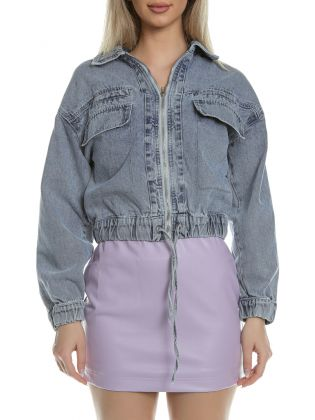 ZIP UP CROPPED JACKET SS21-5